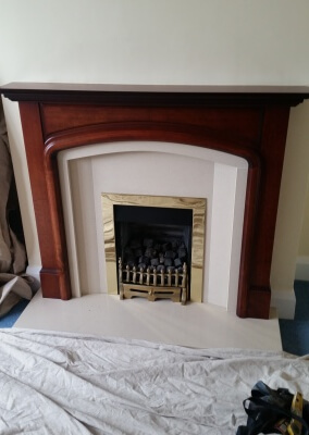 Marble Suite With Wooden Surround & Gas Fire - Wordsley, Stourbridge.