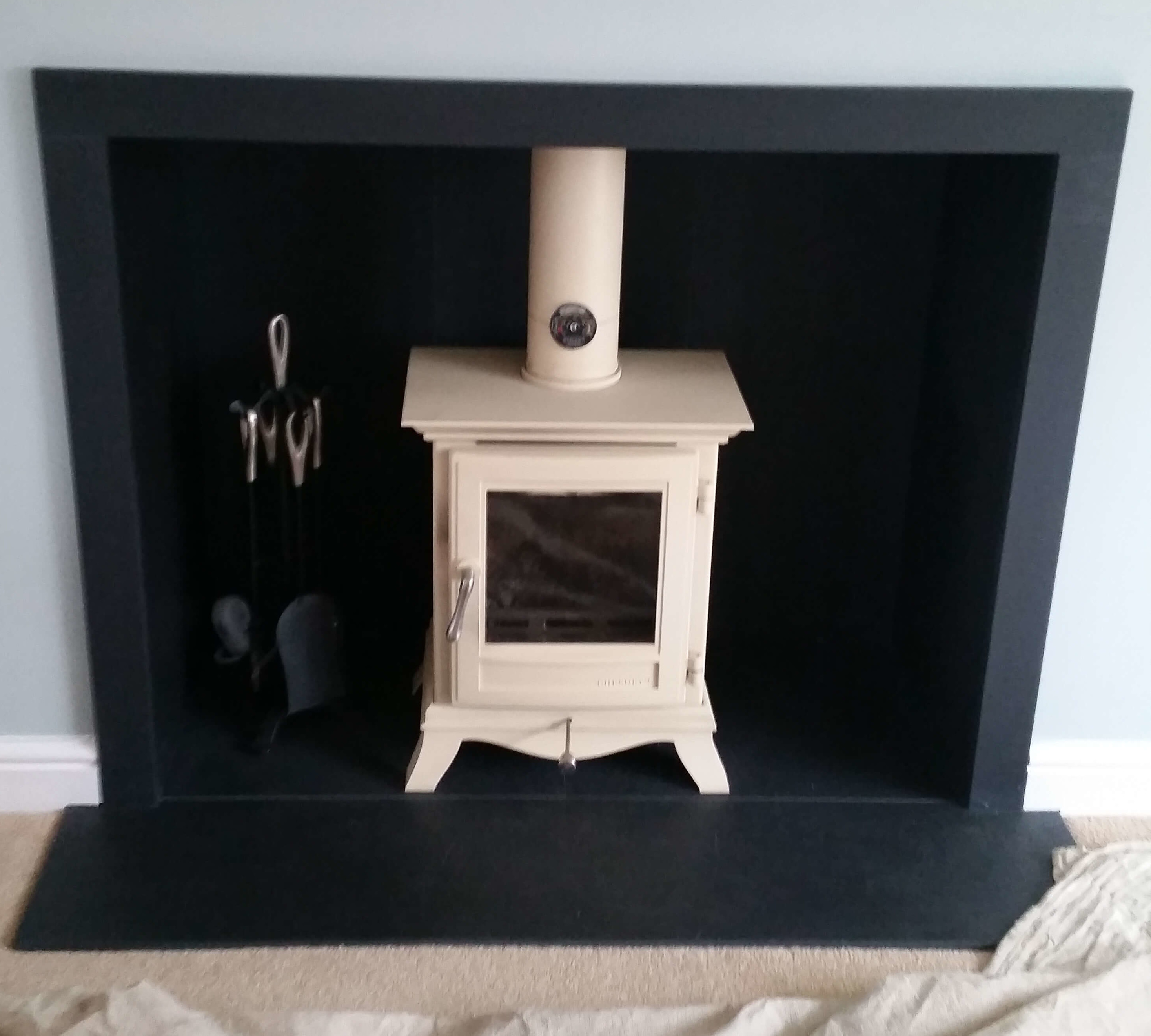 Chesney Beaumont Woodburning Stove With Slate Hearth - Pattingham, Staffordshire.