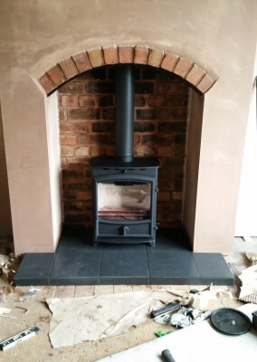 Fireline Fx5w With Tiled Slate Effect Hearth - Codsall, Wolverhampton.