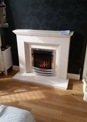 Limestone suite with gas fire - oldswinford Stourbridge.