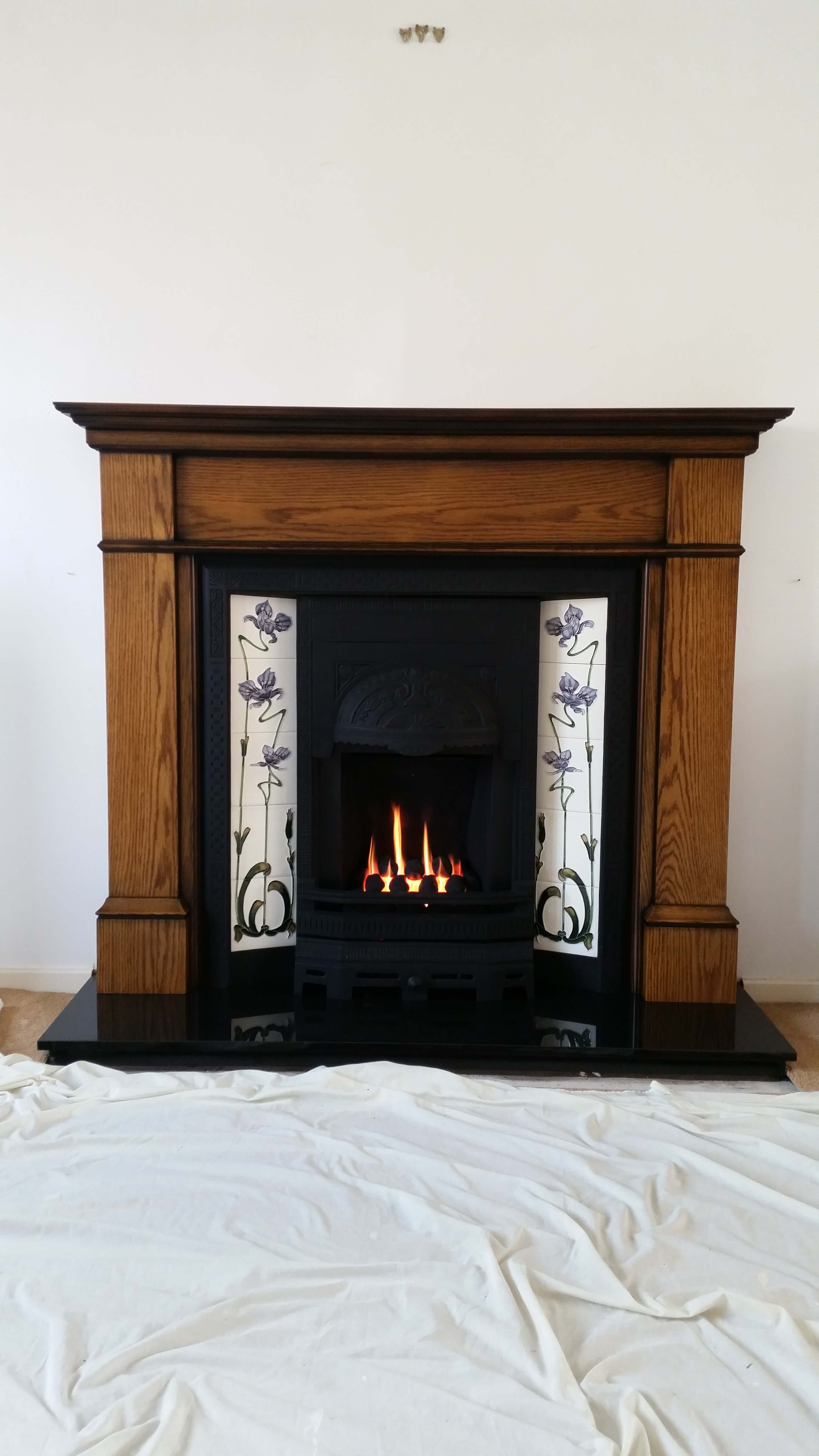 how to start a fire in a fireplace with gas