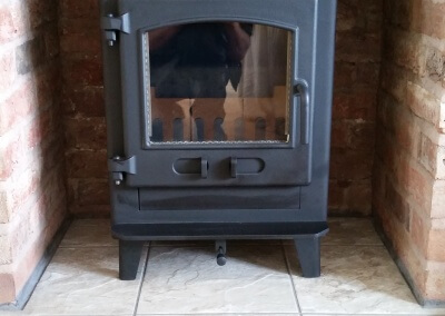 Dean Stove Croft Junior installation with a 316 grade stainless steel liner - Stourton, Stourbridge