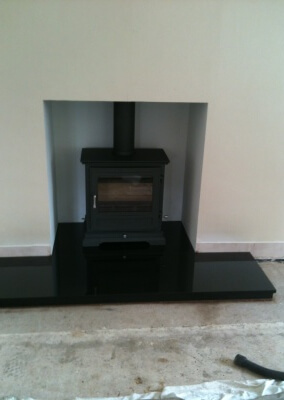 Chesney multifuel woodburning stove, with 316 stainless steel lining, slate hearth made to measure - claverley, shropshire.