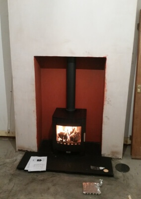 Aduro 5kw woodburning stove with chimney lining - Sedgley, Dudley.