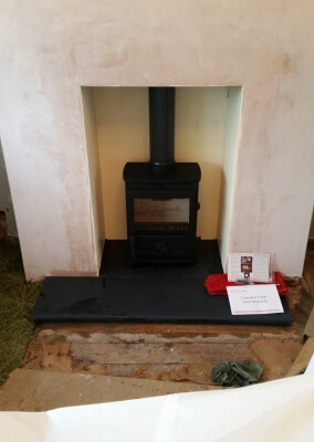 Charlton & Jenrick Fireline fx5w with chimney liner - Dudley.