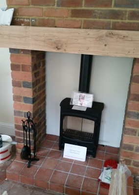 Charlton & Jenrick Fireline fx5w multifuel woodburning stove with chimney lining - Wordsley, Kingswinford
