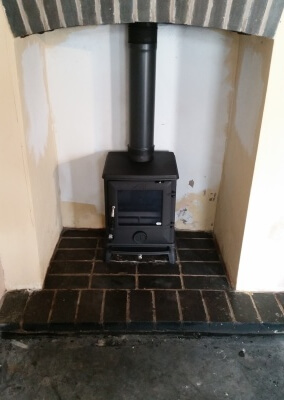 Aga Multifuel woodburning stove with existing hearth - Bridgenorth