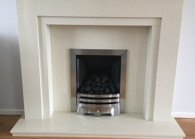 Paragon 2000 gas fire with marble suit - Wolverhampton