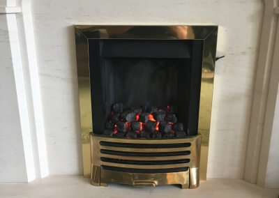 service,maintenance & repair on a decorative fuel effect gas fire - wolverhampton