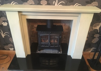 Hunter multifuel Stove installation & Lined Chimney - Halesowen,Stourbridge.