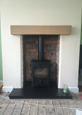 Charlton & Jenrick, Fireline fx5, multi fuel stove installation, with chimney liner - Wordsley, Stourbridge.