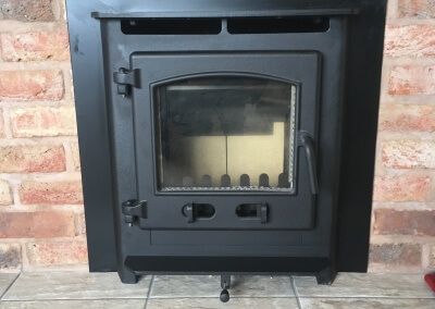 Deans Forge Croft Junior inset multi fuel stove with a 316 grade flexible chimney liner - Stourton, Stourbridge