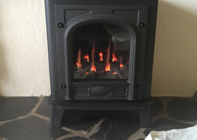 service,maintenance & repair on a decorative fuel effect gas fire - Staffordshire