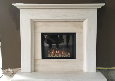 Charlton & Jenrick P4 Gas Fire with Limestone Suit - Rudgley, Cannock