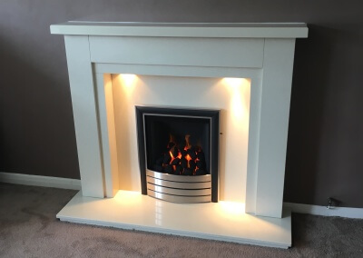 Paragon 2000 slide control gas fire with marble suit - Weston, Staffordshire