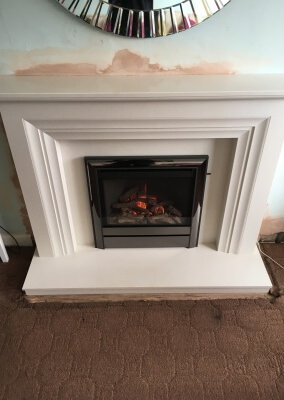 Be-Modern Widescreen Gas Fire With Marble Surround - Stourbridge, West Midlands