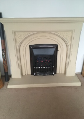 Valor Slide Control Gas Fire With Black Nickel Facia & Fret - Wall Heath, Kingswinford