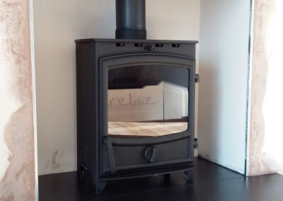 Charlton & Jenrick Fireline FX5W Multifuel Stove With A 316 Grade Liner & A Solid Oak Mantel - Stourbridge, West Midlands