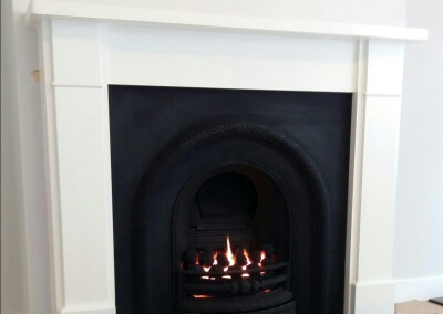 Open Fronted Gas Fire With a Limestone Surround & Granite Hearth - Stourbridge, West Midlands