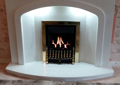 Marble Suite With Built In Down Lights  & A High efficiency Gas Fire - Dudley, West Midlands