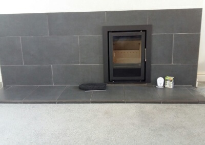 WestFire Uniq Woodburning Stove With A Tiled Heath & Backing - Wall Heath, West Midlands