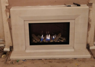 Charlton & Jenrick Limestone Suite With An Integrated High Efficiency Gas Fire - Wordsley, Kingswinford