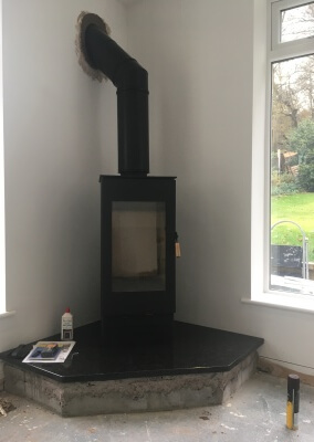 Burley Woodburning Stove With A HT Chimney - Kingswinford, West Midlands