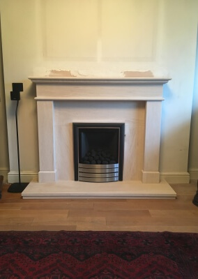 Limestone Suite With A Charlton & Jenrick Paragon 2000 Gas Fire - Staffordshire