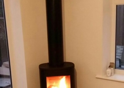 contura 510 Freestanding Woodburner With a HT Flue System - Kingswinford, West Midlands