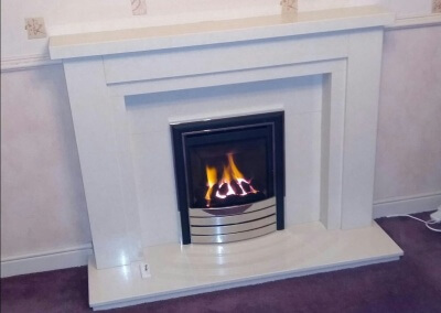 Be-Modern SlimLine Gas Fire With Marble Surround - Brierley Hill, West Midlands