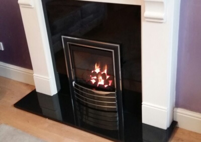 Charlton & Jenrick High Efficency Gas Fire With Solid Granite Hearth & Back Pannel & A Limestone suite - Pedmore, Stourbridge