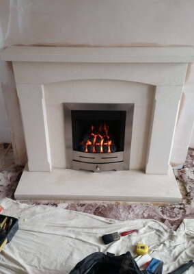 Limestone Suite With Gas Fire - Halesowen, Stourbridge.