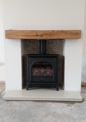 Gazco Stockton Medium Gas Fire Stove - Gornal, Dudley.