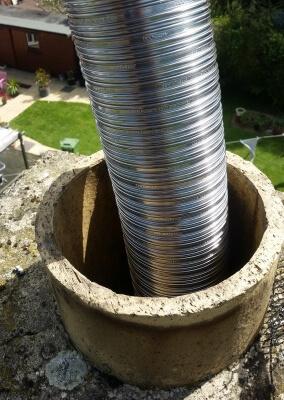 """5"""" 316 grade Stainless Steel Flue Liner - Stourton, Stourbridge."""