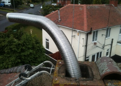 "9 metres - 6"" Liner Coming Out Of Chimney The Stack"