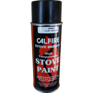 CalFire Flat Black Coal & Stove Spray Paint